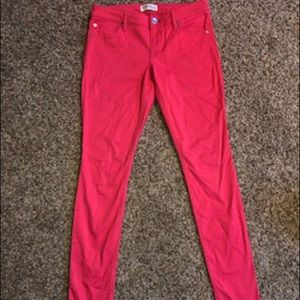 Express Jeggings in Bright Coral